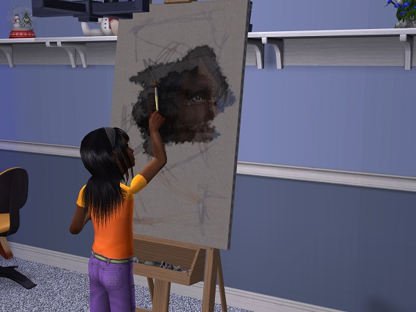 While I was busy painting a picture of myself