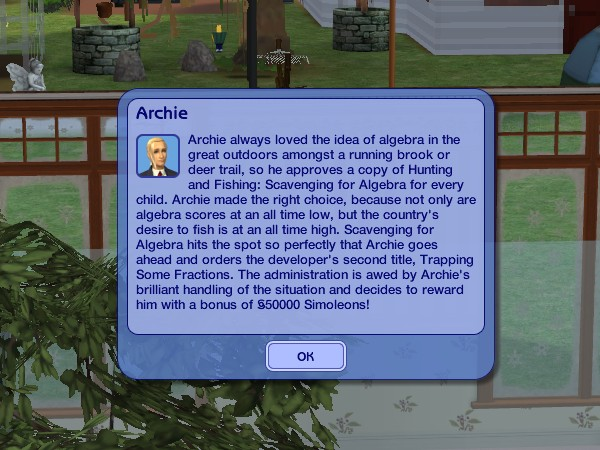 Archie earns a big bonus