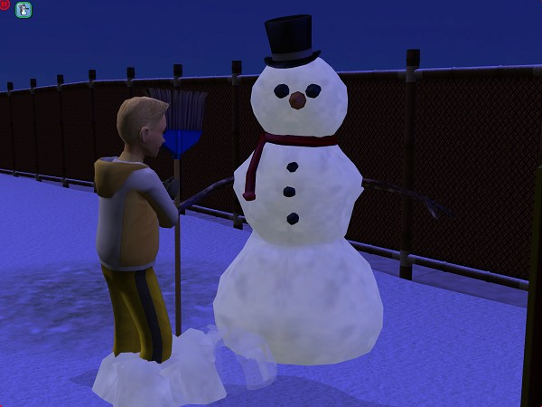 and making a snowman.
