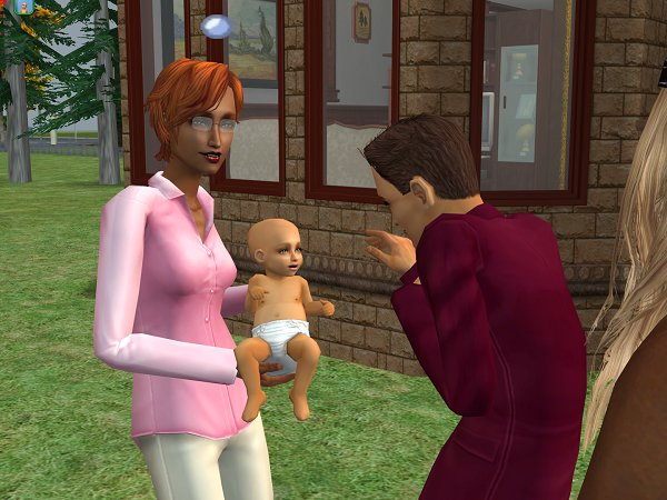 Rori comes out to meet his new daughter