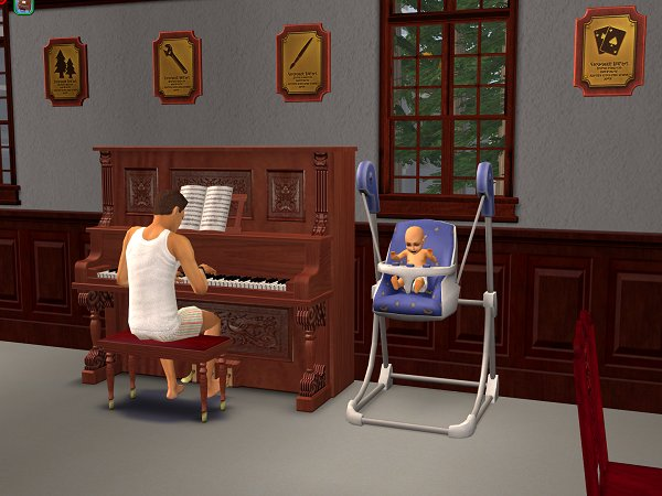 Cassandra enjoys listening to Rory playing the piano