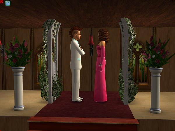 Johnny Pearson met Kylie at the altar