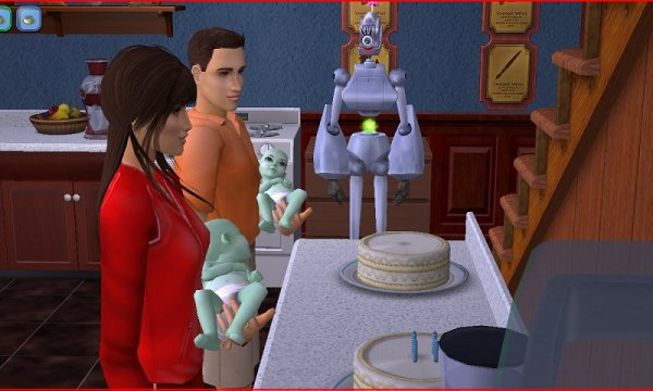 Mattie helps Lionel with the Alien twins' birthdays