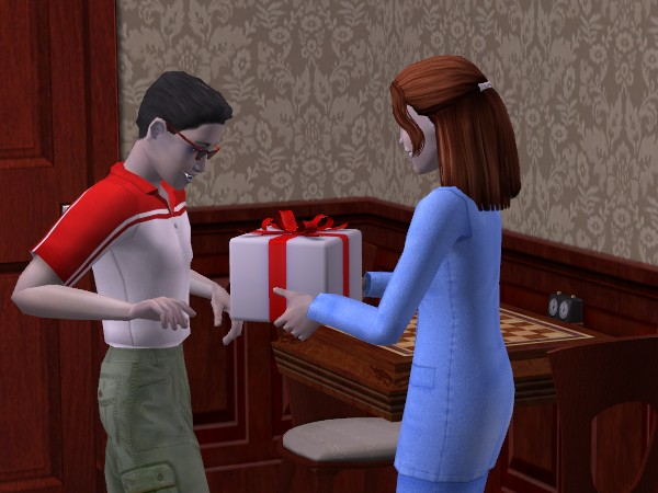 Audry gives George a potion