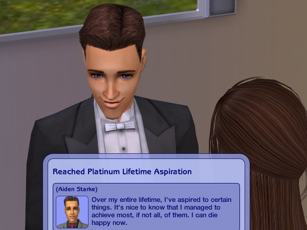 Aiden reaches Platinum Lifetime Aspiration