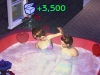 The party-goers enjoy the hot-tub...